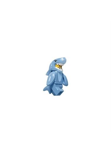 Lego Lego Minifigür - Seri 15 - 71011 - Shark Suit Guy Minifigür Renkli